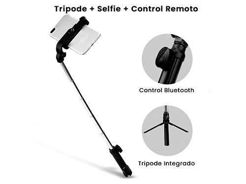 Bastón Monopod Celular Selfie Bluetooth Y Flash Incorporado