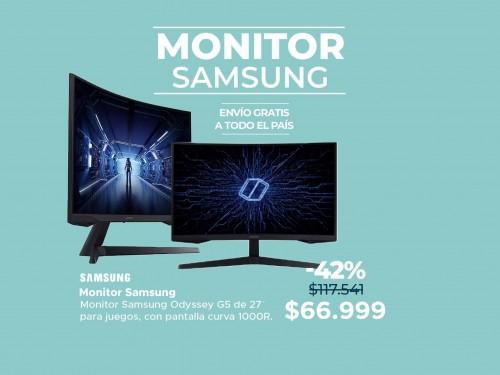 Monitor Samsung Odyssey 27″ G5 para Juegos con Pantalla Curva 1000R
