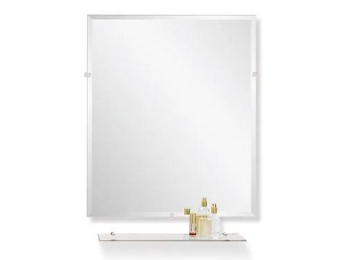 Espejo Repisa Borde Biselado Estante 50 60 Cm Colgar Living