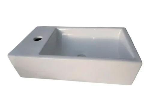 Bacha Apoyo Marmol Sintetico 46x26 Cm Recta Monocomando Baño