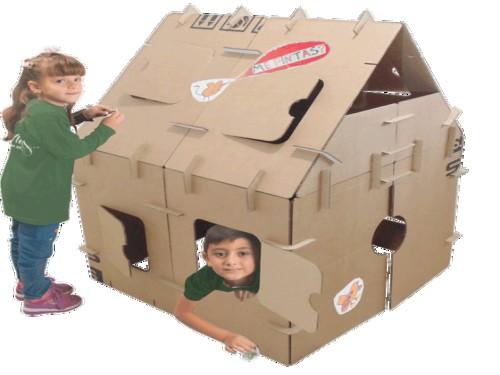 Juego para niños: Casa de juegos para armar, ecológico y creativo