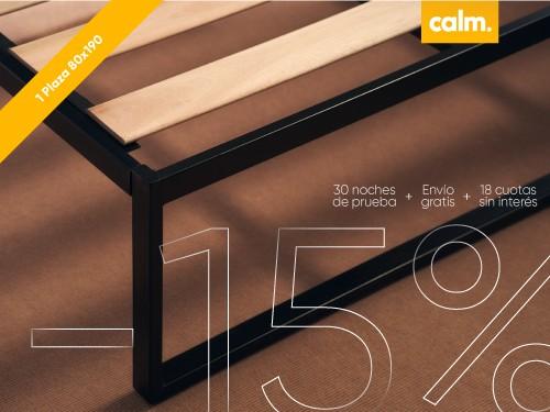 Cama 1 plaza Calm 80 x 190
