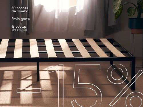 Cama 1 plaza y 1/2 Calm 100 x 190