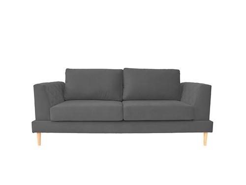 Sillon Sofa 2 Cuerpos Capri Pana Gris Oscuro 1.60 MTS