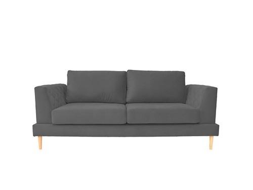 Sillon Sofa 3 Cuerpos Capri Pana Gris Oscuro 1.90 MTS
