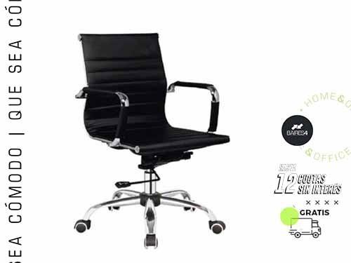 Sillón de Oficina Diseño Alumin Black BAIRES4