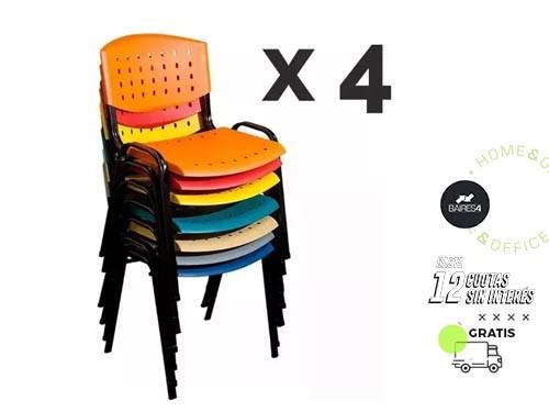 Pack x 4 Sillas Fijas BAIRES4
