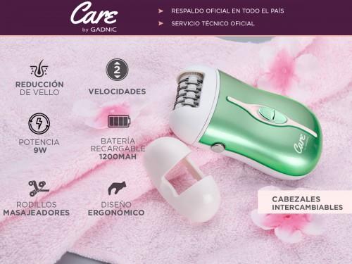 Depiladora Care By Gadnic Lady600 Eléctrica Corporal y Facial Recargab