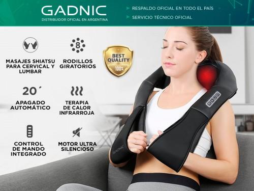 Masajeador Gadnic Ombu Cervical y Lumbar Shiatsu Terapia de Calor
