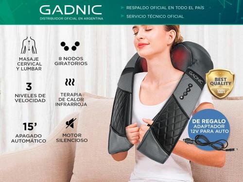 Masajeador Gadnic Ceibo Cervical y Lumbar Shiatsu Terapia Calor 3 Velo