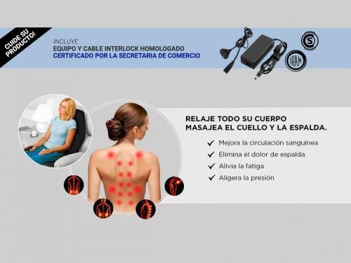Masajeador Gadnic Alamo Cuello, Espalda y Glúteos 5 Modos Terapia de C