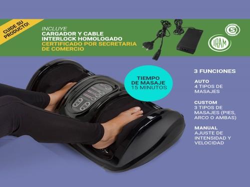 Masajeador Gadnic Healthy Feet Pies Tobillos y Pantorrillas 3 Modos Di