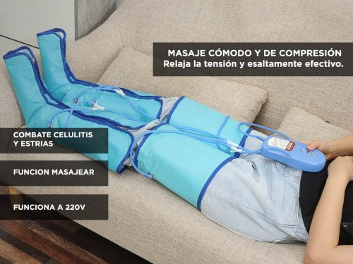Botas de Presoterapia Gadnic Drenaje Celulitis Estrías Relax de Pierna