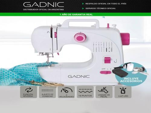 Máquina de Coser Gadnic 508A 16 Puntadas Recta Zig Zag con Pedal