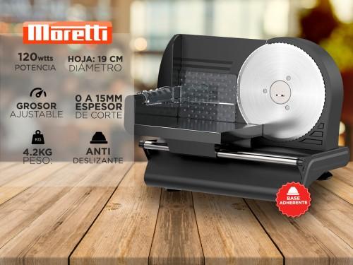 Cortadora de Fiambre Moretti Home-190 Cuchilla Acero Inoxidable 190mm