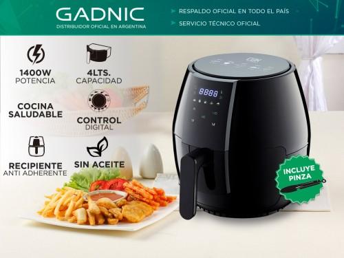 Freidora Sin Aceite Gadnic F4.0 Pro 4Lts 1400w Control Digital Antiadh