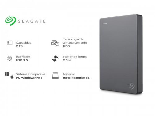 Disco Externo Seagate Basic 2tb USB 3.0 HDD Portátil
