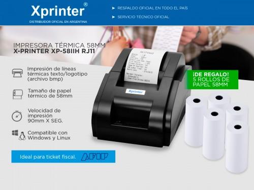 Impresora Térmica X-Printer XP-58IIH USB 58mm Alta Velocidad Impresión