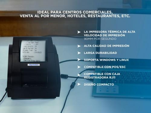 Kit Impresora Termica XP-58IIH + Lector Codigo De Barra Gadnic