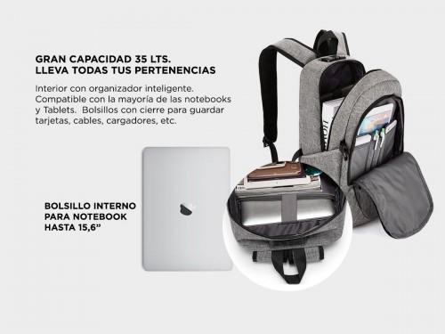 Mochila Antirrobo South Port 35 Litros USB