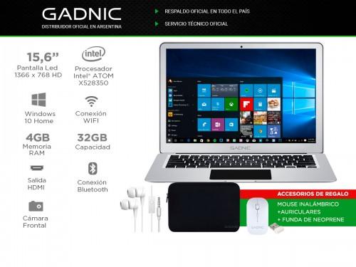 "Notebook Gadnic 15,6"" 4GB 32GB SSD Windows 10"