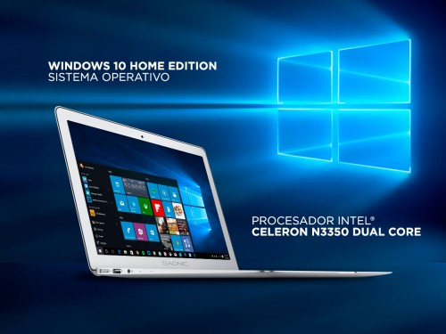 "Notebook Gadnic Lumina Pro Intel Dual Core 4GB 64GB SSD 15,6"" Windows"