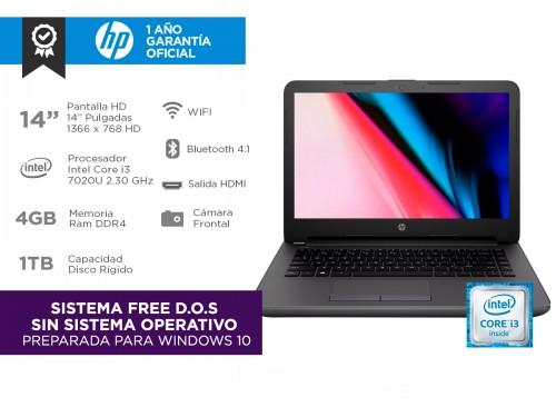 """Notebook HP 240 G6 Intel Core I3 4gb 1tb 14"""" HD"""