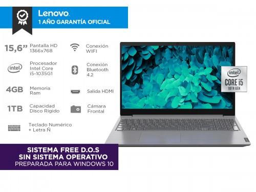 "Notebook Lenovo V15 IIL Intel Core I5 10ma Gen 4gb 1tb 15,6"""