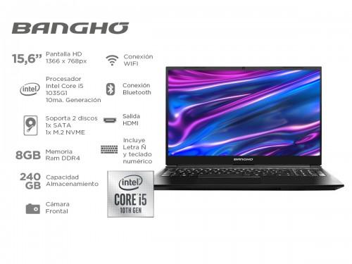 Notebook Bangho Max L5 Intel core i5 1035G1 Ssd 240gb 8gb 15,6 Pulgada