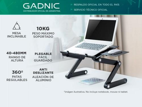 Soporte Notebook Gadnic Desk-711 Mesa Aluminio Regulable Plegable con