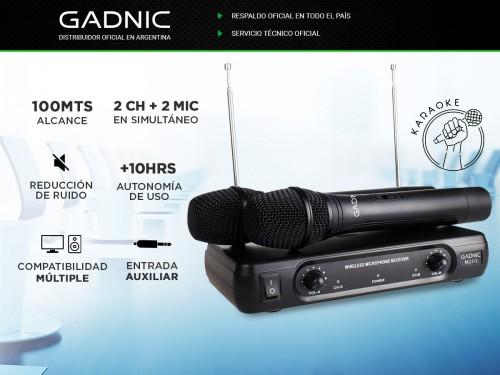 Micrófono Inalámbrico Gadnic M2003 de Mano Ideal Karaoke Conferencias