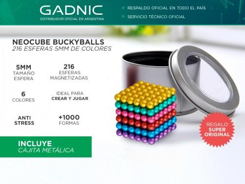 Neocube Buckyballs 216 Esferas 5mm Iman COLORES