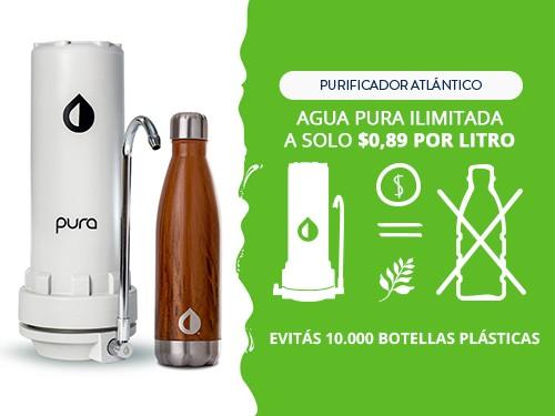 Purificador Agua + Botella Térmica 500 ml | Elimina Arsénico & Cloro