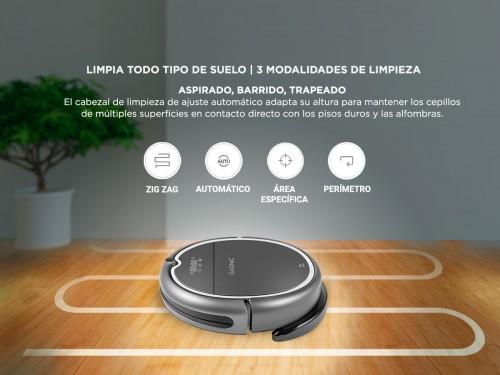 Aspiradora Robot Gadnic Z850 Trapeadora Pared Virtual 200m2 App Silenc