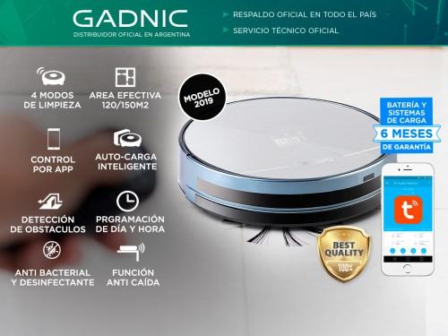 Aspiradora Robot Gadnic Z800 Trapeadora 4 Modos 150m2 App Silenciosa