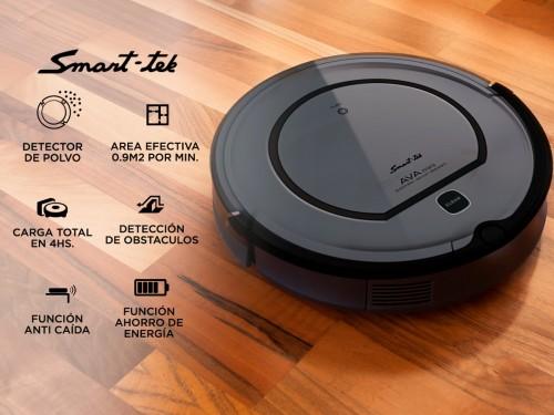 Aspiradora Robot Smart Tek Ava Mini Anti Caída Vuelve Sola