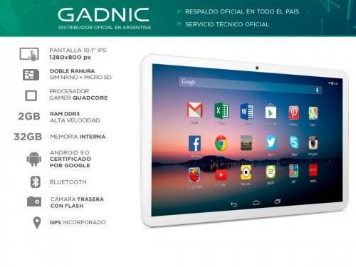 "Tablet Gadnic Fenix Phone Gamer 4G LTE Quadcore 32gb 2gb 10"" IPS"