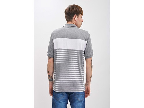 Chomba rayada jersey de algodón efecto granizado Taverniti