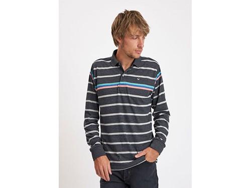 Chomba de jersey de algodón con efecto granizado rayada Taverniti