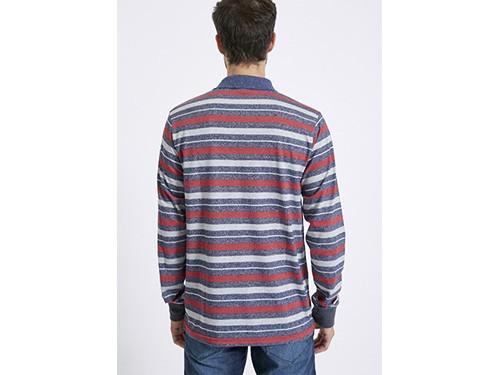 Chomba jersey de algodón efecto marmolado rayada Taverniti