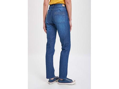Jeans recto tiro alto 5 bolsillos Taverniti