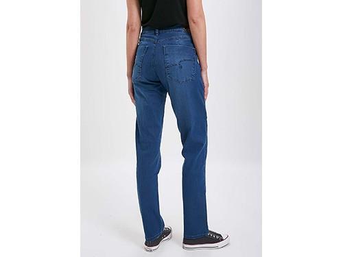 Jeans recto tiro alto e 5 bolsillos Taverniti