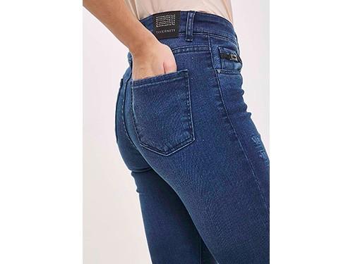 Jeans chupin tiro alto 5 bolsillos Taverniti
