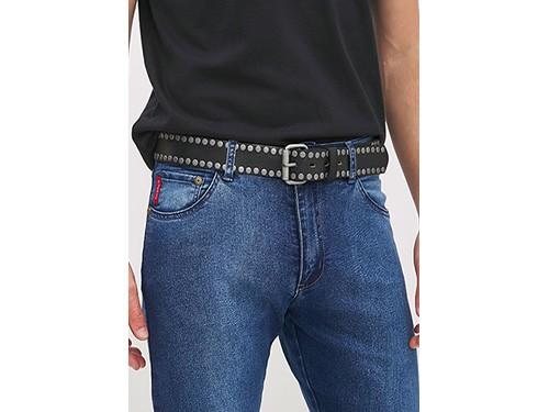 Cinturón de hombre de cuero con tachas Taverniti
