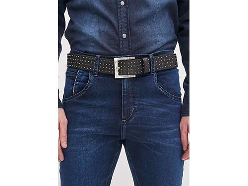 Cinturón de hombre de cuero con tachas chicas Taverniti