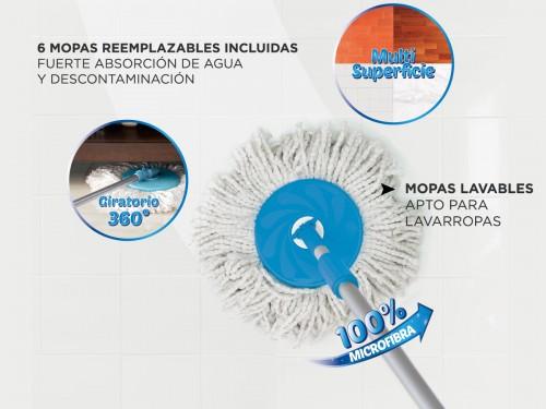 Mopa Gadnic Clean Dream con Balde Escurridor Centrífugo c/ Pedal Lampa