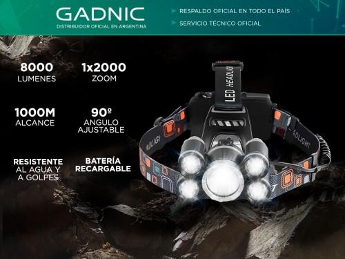 Linterna Gadnic Minero GD-LN36 8000 Lúmenes