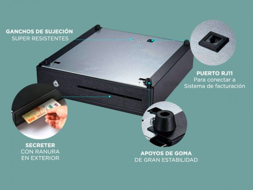 Caja Para Dinero Gadnic G335 Cerradura de Seguridad 3 Modos de Apertur