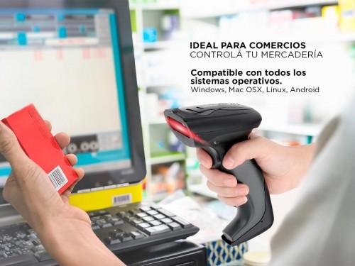 Lector Codigo de Barra 2D QR Gadnic Pro USB Etiquetas + Soporte