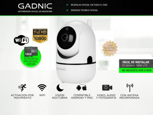 Cámara de Seguridad Gadnic SX9 IP Motorizada WiFi P2P Full Hd Visión N